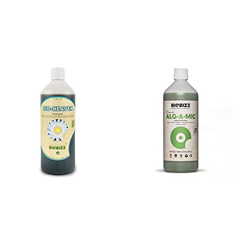BioBizz 06-300-100Orchid Fertiliser Bio Heaven 250ml & Alg-A-Mic Organic Bio-Stimulant 1L, Green/Brown, 1 L US
