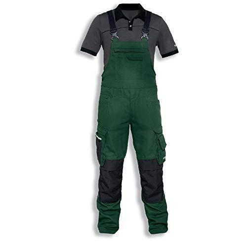 Uvex Perfexxion Premium 3660 Herren-Arbeitshose - Grüne Männer-Latzhose 52