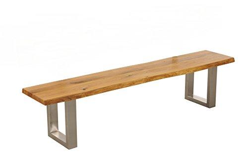 Main Möbel Sitzbank zum Platz nehmen auf einem Unikat mit Original Baumkante 220cm \'Amber II\' Wildeiche massiv