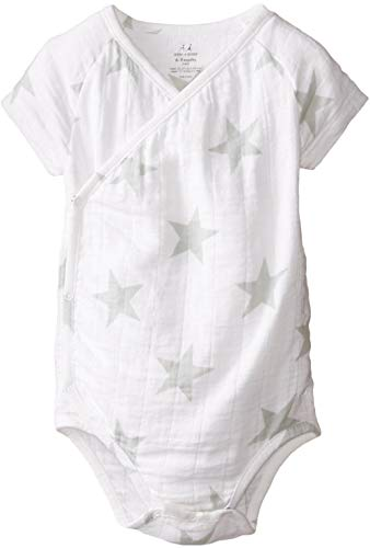 aden + anais Baby-Boys Newborn Muslin Short-Sleeve Kimono Bodysuit
