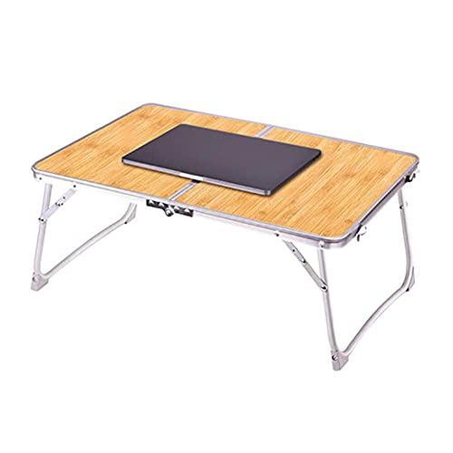 MQJ Mesa Plegable, Mesa de Laptop Plegable Metal Lapdesk Cama de Desayuno Sirviendo Bandeja Portátil Soporte de Lectura para el Hogar Sofá Sofá Sofá,Marrón