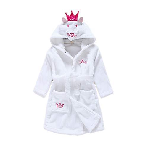 DarkCom Unisex Kinder Bademantel mit Kapuze Cosplay Kostüme Tiere Ankleiden Robe Für Mädchen und Jungen (110 (Suggest Höhe: 100 CM-110 cm), Maus)