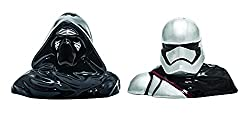 6. Star Wars Darth Vader and Stormtrooper Salt and Pepper Shakers, Black/White