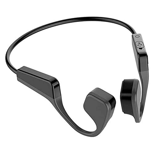 HKJZ SFLRW Auriculares inalámbricos de conducción de Hueso inalámbrico Bluetooth 5.0, IP67 Impermeable, Prueba de Sudor Ligero de Titanio para Ejecutar la reunión de Ciclismo de conducción