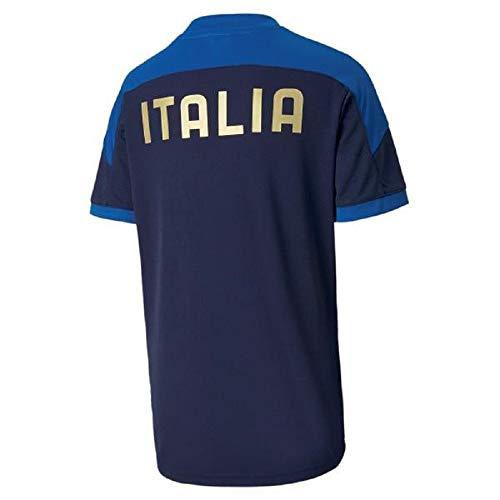 PUMA Jungen T-Shirt FIGC Training Jersey Jr, Peacoat/Team Power Blue, 164, 757345