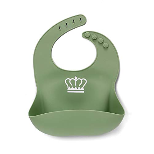 Baberos impermeables de silicona para bebés sin BPA, para recién nacidos, niños pequeños, para usar