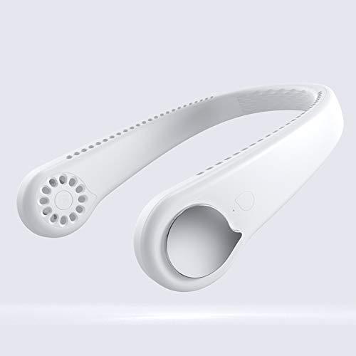 Shengyang portátil manos libres de cuello, 360 ° Ventilador de banda de cuello perezoso 48 Exposiciones de aire envolvente USB RECARGABLE COLGANTE FAN PERSONAL 3 VELOCIDAD SILENCIA SILENCIADA,-B||2