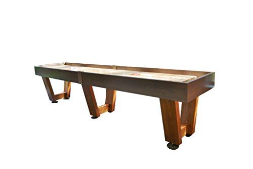 Monaco Shuffleboard Table – Gaming Board with Playing Accessories – Gameroom Furniture – Wood Game Table with Ash & Grey Stain - 22'