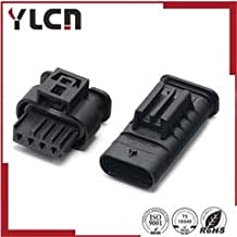 Davitu Hirschmann 4 pin plastic plug auto connector 805-122-541 and 872-617-541 - (Color: Female and male, Package: 10sets)