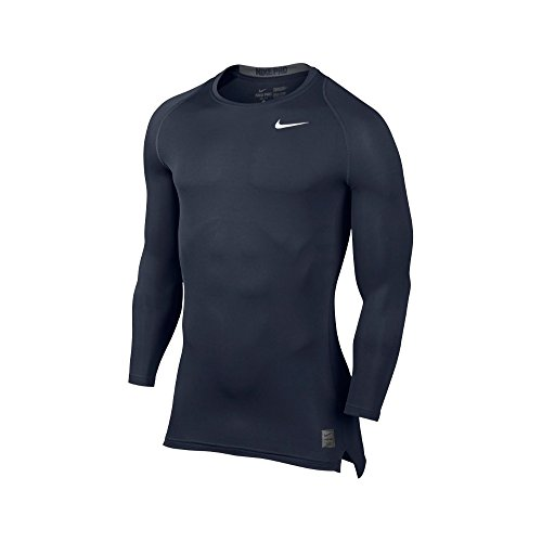 Nike Men's Pro Cool Compression L/S, Obsidian/Dark Grey/White, LG