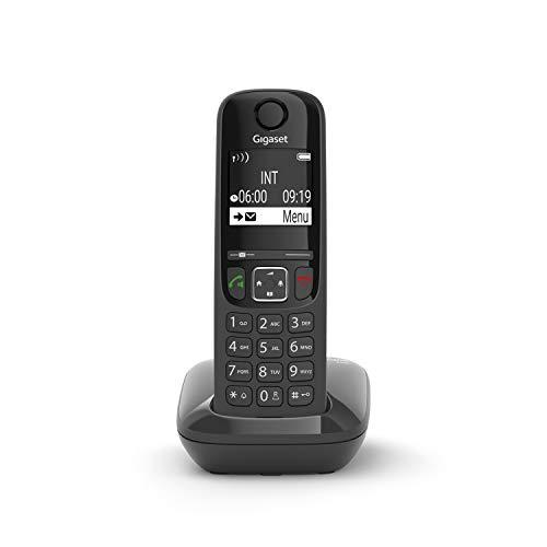 Gigaset AS690 Festnetz-/Schnurlostelefon ohne Anrufbeantworter (DECT-Telefon mit Freisprechfunktion, großes Display, große Tasten) schwarz