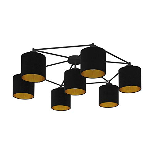 EGLO STAITI plafondlamp, staal, 40 W, zwart