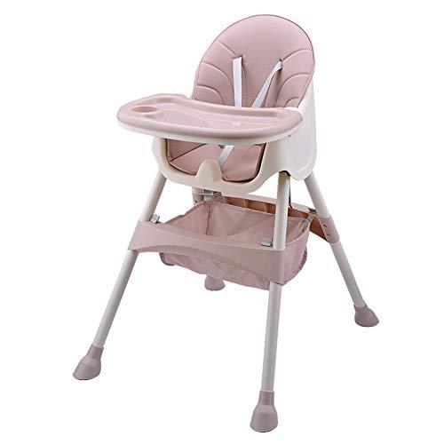 FairOnly Säuglings-Multifunktionsbaby-speisender Stuhl-Faltbarer tragbarer Baby-Stuhl-Sitz mit Aufbewahrungstasche Rosa - Baby