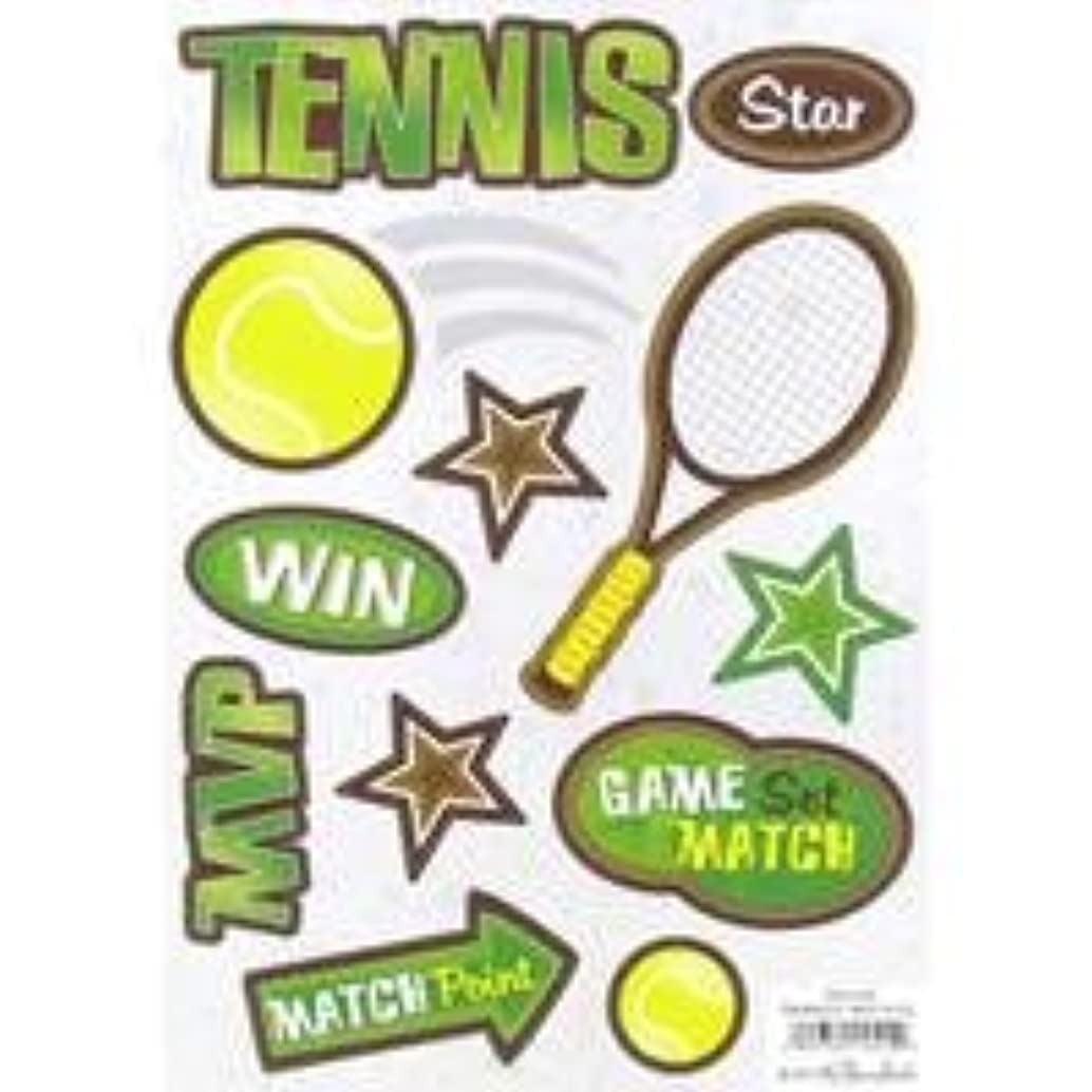 Tennis Cardstock StickersNew by: CC