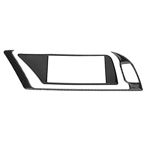 KIMISS 2 * Cubiertas interior del marco del panel del navegador de GPS del coche de la fibra de carbono de para B8 A4 A5 Q5 S4 S5