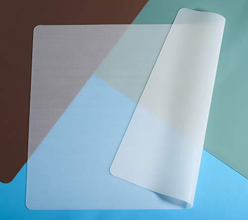 ANEWISH 2 Stück Silikon Tischset rutschfest Isolations Tischset Tischdecke Tischdekoration 40 x 30 cm Matt Transparent
