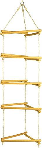 small foot 1649 Klettergerüst aus Holz, mit Metallringen zur Befestigung, belastbar bis 120 kg, ab 3 Jahren