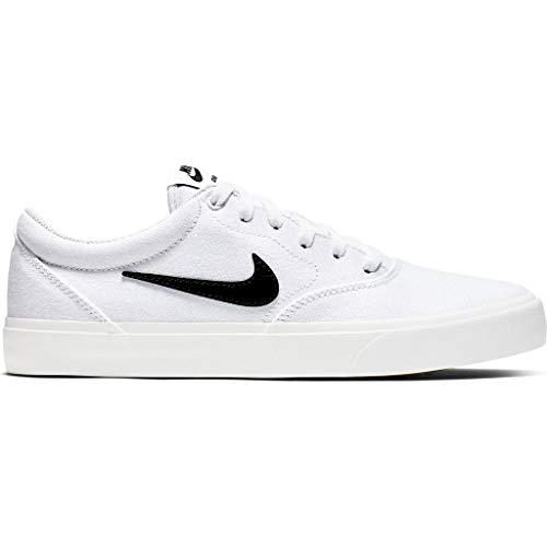 Nike SB Skateboard Charge Solarsoft - Skateboard (tamaño: 43/9,5, color: 101), color blanco y negro