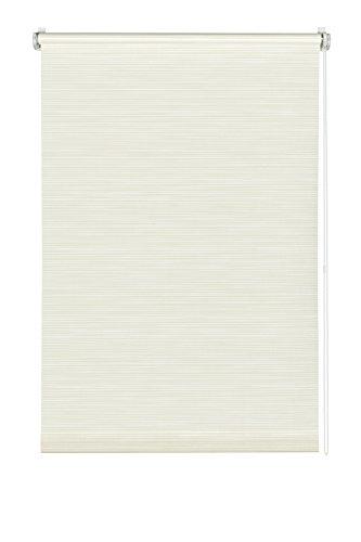 Gardinia 33166 Easyfix - Estor enrollable (75 x 150 cm fijación sin tornillos), blanco y beige