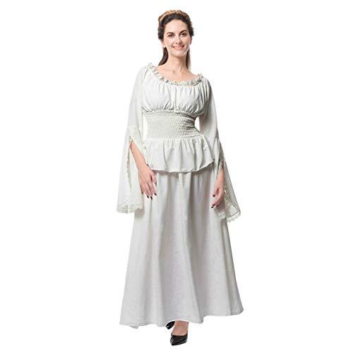 Huacat Victorian Gothic Dress Nightgown Ladies Medieval Renaissance Costume Sexy Mittelalter Kostüm Luxuriös mittelalterlichen Prinzessin Kleid