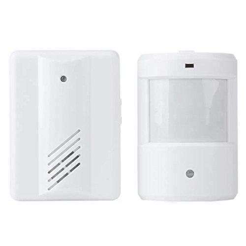 ワイヤレス呼び出しチャイムセット 動体検知で呼出音が鳴る 赤外線センサー搭載 配線不要 電池式 モーションセンサーアラーム 電波受信距離100m 防犯用にも FMTYF108
