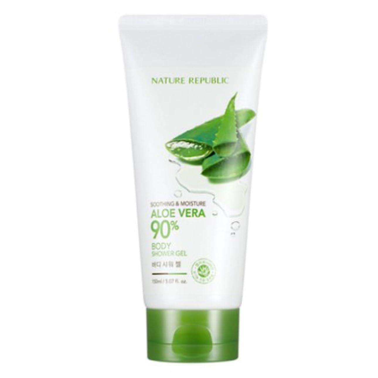 止まるインサート心から[ネイチャーリパブリック] Nature republicスージングアンドモイスチャーアロエベラ90%ボディシャワージェル海外直送品(Soothing And Moisture Aloe Vera90%Body Shower Gel) [並行輸入品]