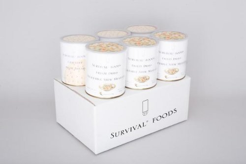 非常食 長期保存食のサバイバルフーズ 大缶ファミリーセット(クラッカー&野菜シチュー)計60食セット