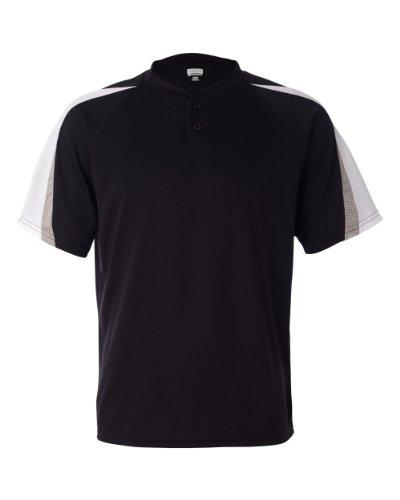Augusta Sportswear Men'S Power Plus Baseball Jersey 3Xl Black/White/Silver Grey