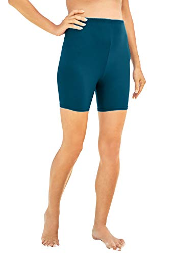 Swimsuits For All Women's Plus Size Swim Boy Short Swimsuit Bottoms - 28, Teal
