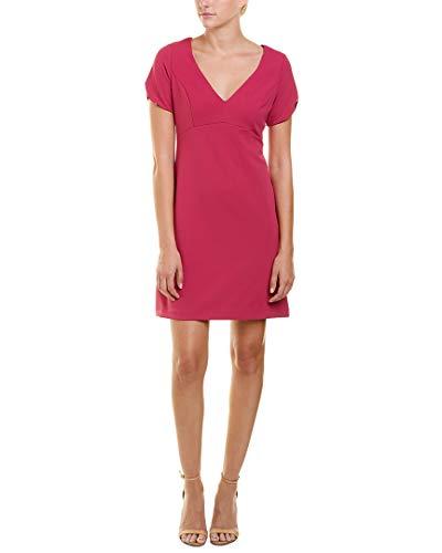 Betsey Johnson Damen Short Sleeve Scuba Crepe Dress with Cherry Lining Lssiges Kleid, Rose, 34