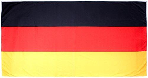 PEARL Strandtuch Deutschland: Mikrofaser-Sport-Handtuch für Fitness-Studio & Strand, 180 x 90 cm (Badetuch Deutschland Flagge)
