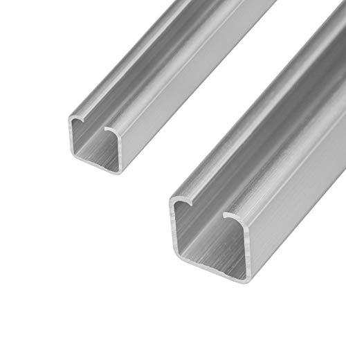 Schiebetür Laufschiene C- Profil 20&25mm Länge 2m in 2 Grössen und 2 Stärken wählbar (20mm, Materialstärke 2mm)