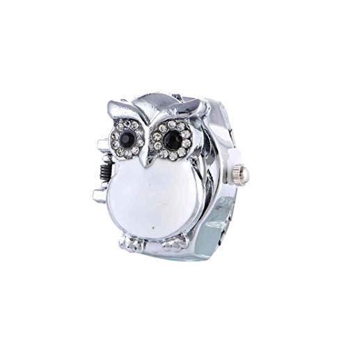 Reloj de pulsera con diseño de búho para mujer, de cuarzo, para hombre