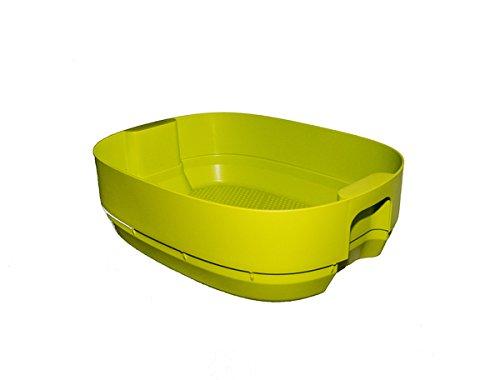 SUPERWURM Wurmbett für Design-Komposter, Wurmkomposter (Hellanthrazit)