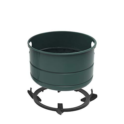 Air Fryer Lid Replacement Basket Compatible to Instant Pot 6Qt Pressure Cooker, Enamel Coated Non-Stick Air Fryer Basket (Grey)