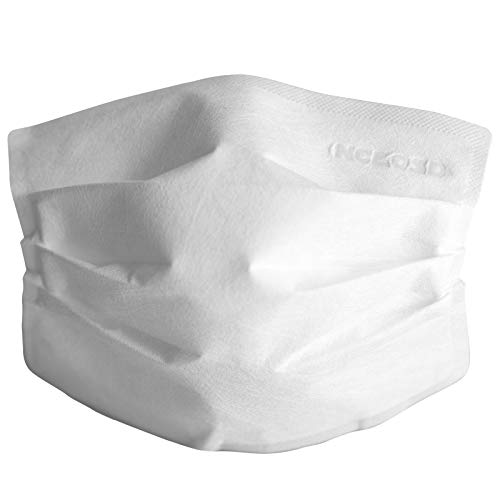 NCLOSD Strapless Face Mask - Disposable, Single Use Adhesive Mouth Cover for Asthmatics that Won't Fog Glasses, Easy to Breath - Made in the USA (15 Pack)