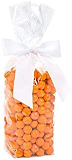 """Clear Flat Bottomed Treat Bags w/Paper Insert 