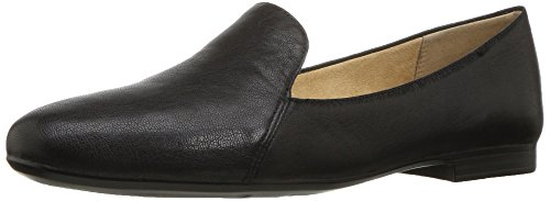 Naturalizer womens Emiline Flats Slip On Loafer, Tumble Leather Black, 9.5 Wide US