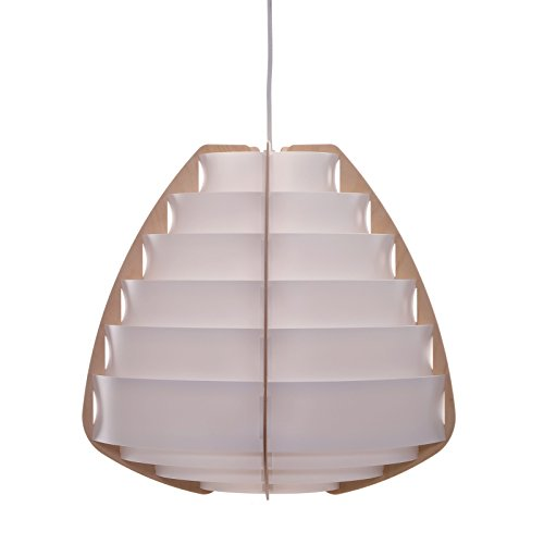DESIGN DELIGHTS SUSPENSION « NIDO » - 43 cm, Blanc, Plastique - LIVRÉE EN KIT - éclairage - Plafonnier