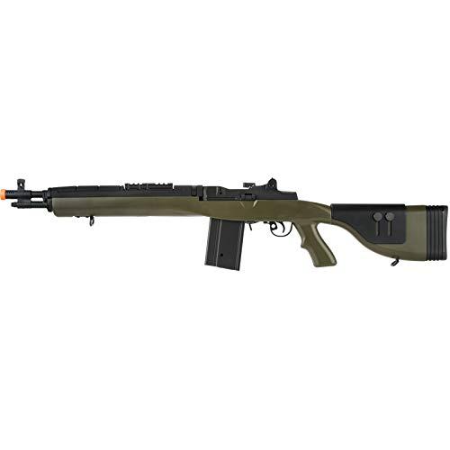 Lancer Tactical LT-732 DMR Stock 38' M14 SOCOM Airsoft AEG Rifle OD Green