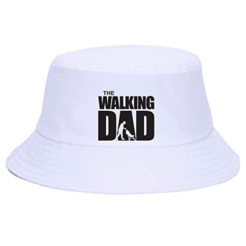 56-58cm papá's letter print sombrero de lluvia con protección solar para hombres unisex verano sombrero de cubo plegable sombrero de pesca de algodón con protección solar para exteriores para mujer