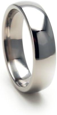 6mm Titanium Ring, Titanium Band, Titanium Wedding Band, FREE Sizing