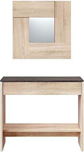 Mobelcenter – Recibidor Consola Óxido con Espejo y Cajón – Mueble de...