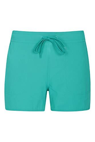 Mountain Warehouse Pantalones Cortos de Surf para Mujer - Pantalones elásticos con protección UV - Ligeros y de Secado rápido - para Verano, Surf, Playa y Piscina Verde Agua 34