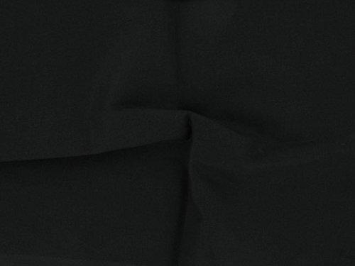 Dalston Mill - Tela de algodón 100%, Negro, 2 m
