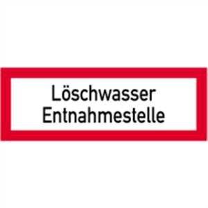 Schild Löschwasser Entnahmestelle gemäß DIN 4066, Alu 10,5 x 29,7 cm (Brandschutzschild, Hinweisschild) wetterfest