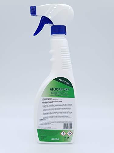Alcosandry Detergente Igienizzante idroalcolico per pulizia rapida superifici e attrezzature. Protocollo HACCP - Deterdem Shop