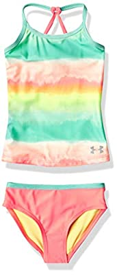 Under Armour Girls' Little Tankini, Eclectic Pink sp20, 6