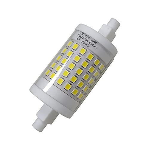 R7S LED 10W 78mm Regulable Lámpara de reflector. Color Blanco Frio (6500K). 900 lumenes. 360 grados. A++