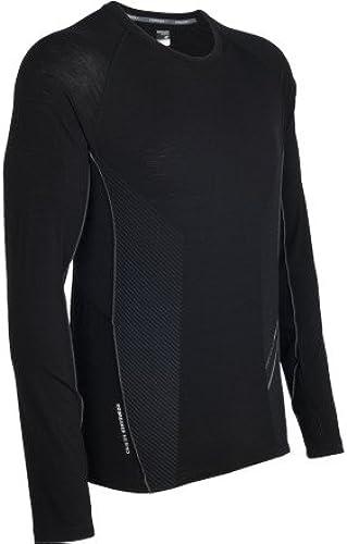 Icebreaker Sonic T-Shirt à Longues Manches et Demi-Zip pour Homme